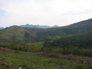 View across the Outeniqua mountains