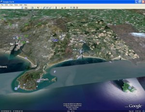 Approaching Dublin over the Irish Sea