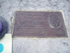 Father Pat Noise commemorative plaque