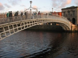 Crossing the Ha penny Bridge