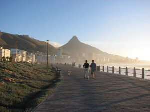 The Green Point promenade - with Lion's Head up ahead