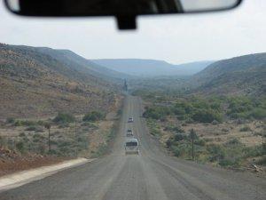 Gravel road heading into the Karoo