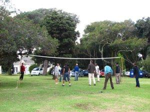 A friendly volleyball match