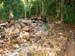 Gabions reducing erosion