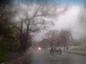 Rain storm in Claremont
