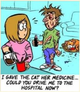 Cartoon-cat-medicine