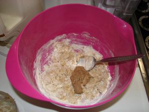 BB 05 Dry ingredients plus milk and yeast