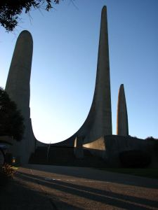 The imposing spires and curves of the Taal Monument