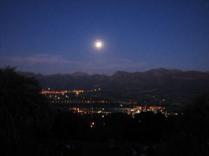 The moon over the valley