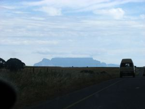 Table Mountain up ahead