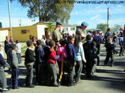 After lunch, iced fruit lollies are handed out to all the learners