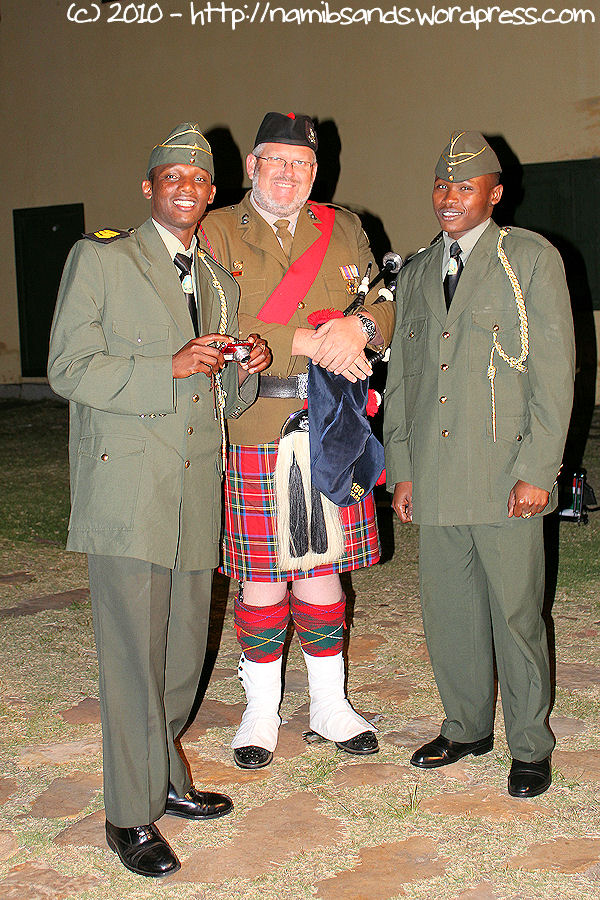 Tattoo Pipe-Major, Staff Sergeant Andrew Imrie of the CFA Pipes and