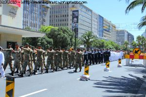 They are closely followed by soldiers from the Army, Air Force, Navy and Medical Health Services