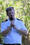 Commander Kenny Leibbrandt welcomes us to the beautiful grounds of Admiralty House