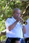 PO Theo Joemath plays a solo on the cornet