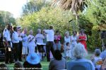 Volunteers come forward - or are called forward - to form the 2011 Admiralty House Garden Party Ad Hoc Choir