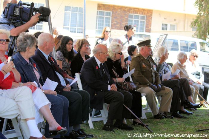 Some of the military veterans and dignitaries at the Remembrance Day Service