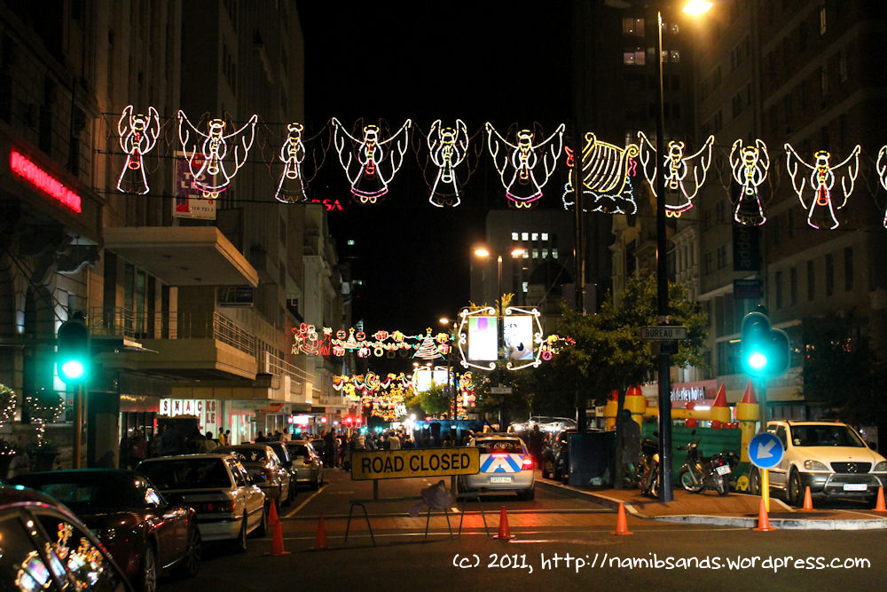 christmas lights in adderley street