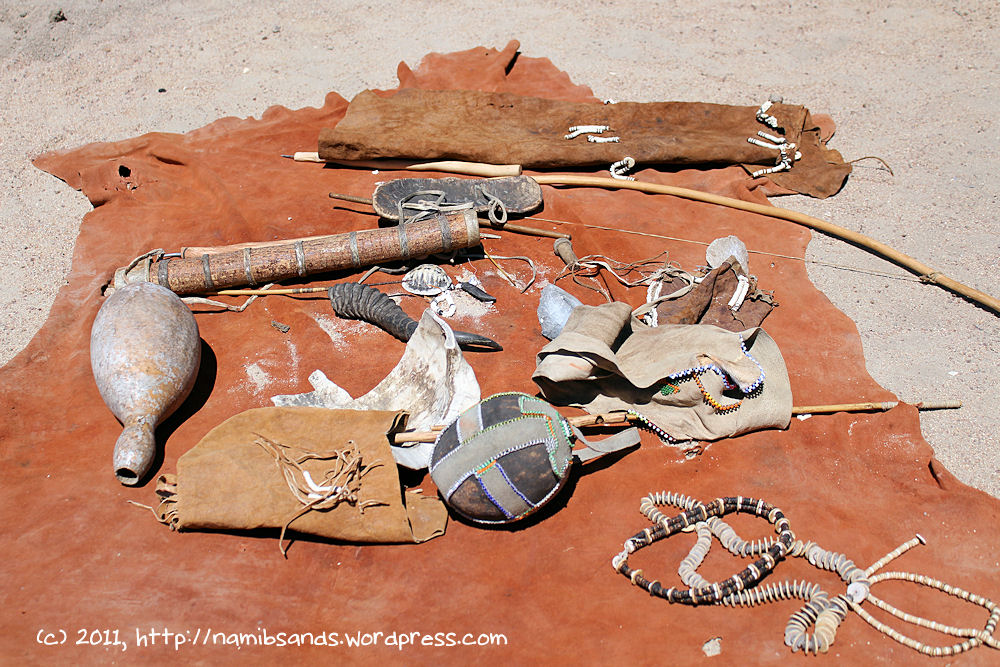 A collection of items used by the San