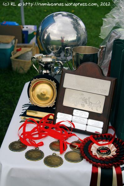 Some of the coveted medals, prizes, trophies...