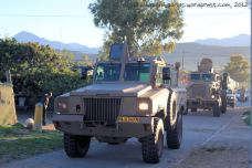 It is followed by the Mamba armoured personnel carrier and the Casspir, a landmine-protected personnel carrier