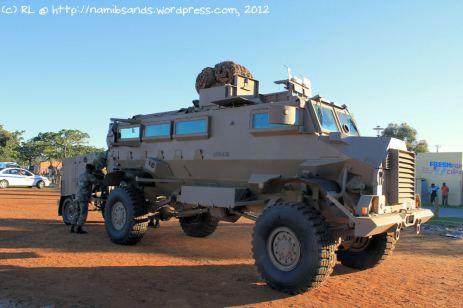 The Casspir is an intimidating vehicle if you stand next to it