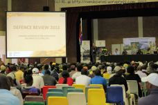 The audience is welcomed to the final public imbizo with the Defence Review Committee 2012