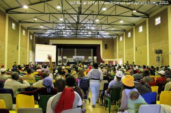 There are around 800 people attending this public imbizo – and they have many questions for the Committee