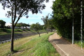 Looking northeast along the footpath from the Third Scout Hall