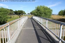 The footbridge across the canal at the end of Bontheuvel Street, opposite the Clyde Pinelands Sports Centre