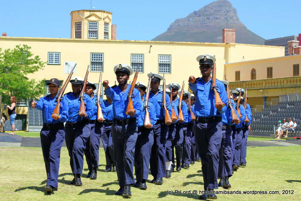 ... of the SA Navy Cadets are looking very smart in their blue uniforms