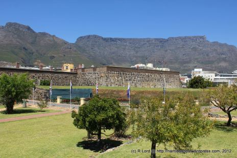 The Castle of Good Hope against the impressive backdrop of Table Mountain