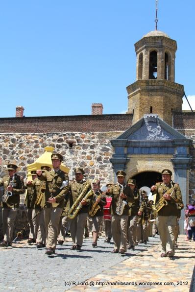 The SA Army Band Kroonstad, led by Staff Sergeant Johan Labuschagne