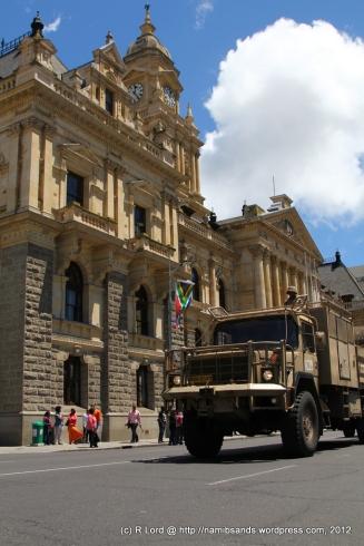 The heavy SAMIL 100 gun tractor of Cape Garrison Artillery