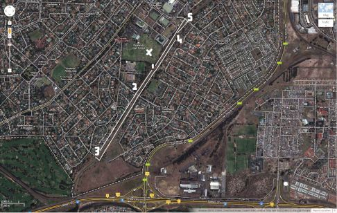 The route of the fun run/walk along the Elsieskraal canal