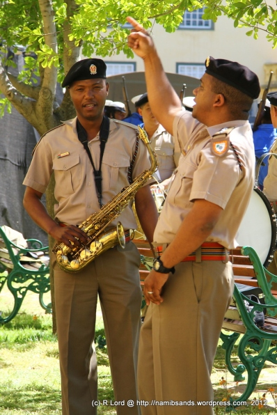 """Corporal Godfrey Rahube singing """"Thank you for the music"""""""