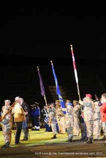 The regimental colours