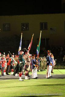 Regimental flag bearers