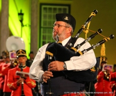Staff Sergeant Andrew Imrie on pipes