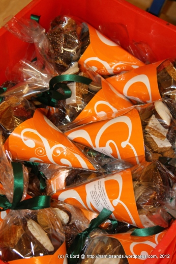 Unusual cone-shaped packets of Lebkuchen and Plaetzchen