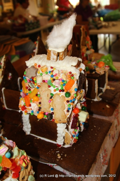Building these gingerbread houses takes a long time - and much care and dexterity!
