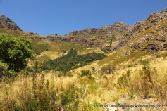 That little spot in the distance is Richard - he doggedly ascends the slope, trying to gauge how far it is still to our promised picnic spot