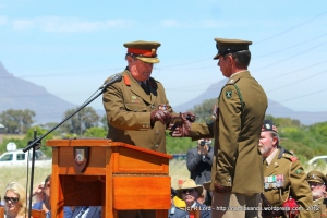 Col B Ashlin formally hands over command of Fort Ikapa to Lt Col S E Pierce