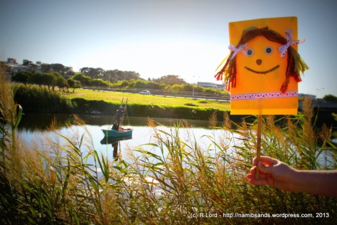 We take Flat Kathy along to scout out the strange urban art installation on the Black River