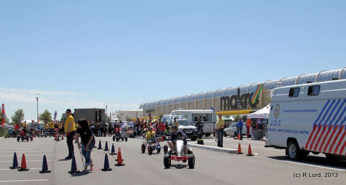 Pedal-powered go-kart races for the youngsters - very exciting!