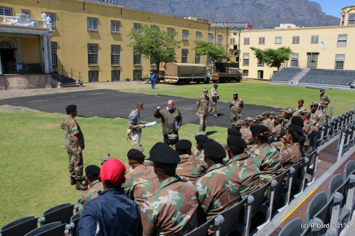 Briefing the troops