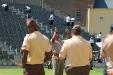 Capt Vernon Michels of the SA Army Band is the conductor