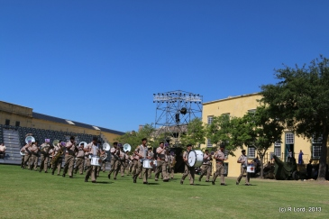 Here comes the SA Army Band Cape Town