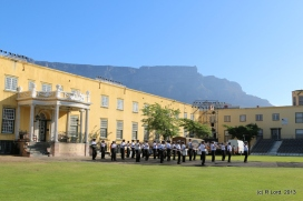 SA Navy Band against the backdrop of Table Mountain