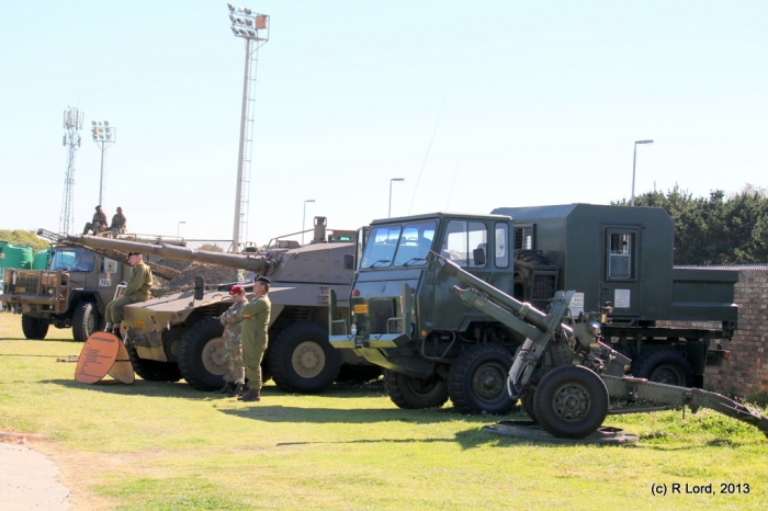 Static military displays by Cape Garrison Artillery, Regiment Oranjerivier and Cape Field Artillery